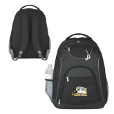 The Ultimate Black Computer Backpack-Athletic Logo