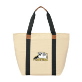 Natural/Black Saratoga Tote-Athletic Logo