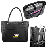 Sophia Checkpoint Friendly Black Compu Tote-Primary Athletics Logo