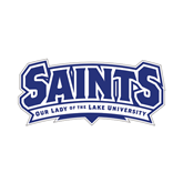 Small Decal-Saints - Our lady of the Lake University, 6 inches wide
