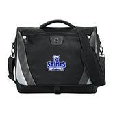 Slope Black/Grey Compu Messenger Bag-Our Lady of the Lake University Athletics - Offical Logo