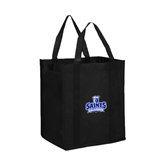 Non Woven Black Grocery Tote-Our Lady of the Lake University Athletics - Offical Logo