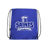 Royal Drawstring Backpack-Our Lady of the Lake University Athletics - Offical Logo