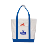 Contender White/Royal Canvas Tote-Our Lady of the Lake University Athletics - Offical Logo