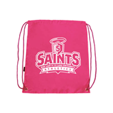 Pink Drawstring Backpack-Our Lady of the Lake University Athletics - Offical Logo