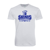 Next Level SoftStyle White T Shirt-Our Lady of the Lake University Athletics - Offical Logo