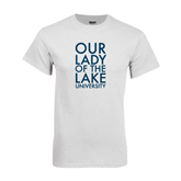 White T Shirt-Our Lady of the Lake Stacked