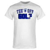 White T Shirt-Tee Off Golf Design