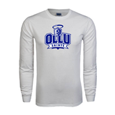 White Long Sleeve T Shirt-OLLU Saints