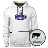 Contemporary Sofspun White Hoodie-Our Lady of the Lake University Athletics - Offical Logo
