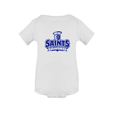 White Infant Onesie-Our Lady of the Lake University Athletics - Offical Logo