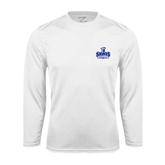 Performance White Longsleeve Shirt-Our Lady of the Lake University Athletics - Offical Logo