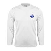 Syntrel Performance White Longsleeve Shirt-OLLU Saints