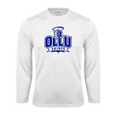 Performance White Longsleeve Shirt-OLLU Saints