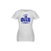 Youth Girls White Fashion Fit T Shirt-OLLU Saints