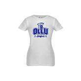 Youth Girls White Fashion Fit T Shirt-OLLU Saints