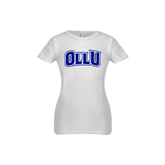 Youth Girls White Fashion Fit T Shirt-OLLU