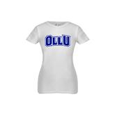 Youth Girls White Fashion Fit T Shirt-OLLU