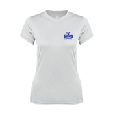 Ladies Syntrel Performance White Tee-Our Lady of the Lake University Athletics - Offical Logo
