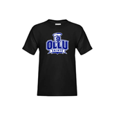 Youth Black T Shirt-OLLU Saints