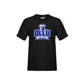 Youth Black T Shirt-OLLU Saints