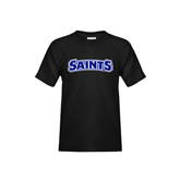 Youth Black T Shirt-Saints