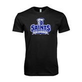 Next Level SoftStyle Black T Shirt-Our Lady of the Lake University Athletics - Offical Logo