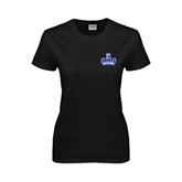 Ladies Black T Shirt-Our Lady of the Lake University Athletics - Offical Logo