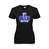 Ladies Black T Shirt-OLLU Saints
