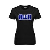 Ladies Black T Shirt-OLLU