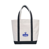 Contender White/Black Canvas Tote-Our Lady of the Lake University Athletics - Offical Logo