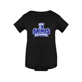 Black Infant Onesie-Our Lady of the Lake University Athletics - Offical Logo