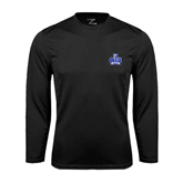 Syntrel Performance Black Longsleeve Shirt-OLLU Saints
