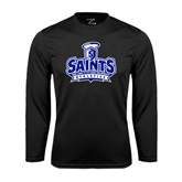 Performance Black Longsleeve Shirt-Our Lady of the Lake University Athletics - Offical Logo