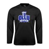 Performance Black Longsleeve Shirt-OLLU Saints