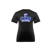 Youth Syntrel Performance Black Training Tee-Our Lady of the Lake University Athletics - Offical Logo