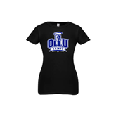 Youth Girls Black Fashion Fit T Shirt-OLLU Saints