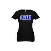 Youth Girls Black Fashion Fit T Shirt-OLLU