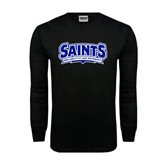 Black Long Sleeve TShirt-Saints - Our lady of the Lake University