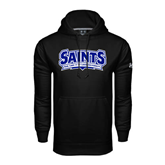 Under Armour Black Performance Sweats Team Hoodie-Saints - Our lady of the Lake University