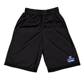 Russell Performance Black 9 Inch Short w/Pockets-Our Lady of the Lake University Athletics - Offical Logo