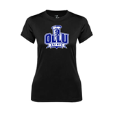 Ladies Syntrel Performance Black Tee-OLLU Saints