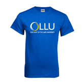 Royal T Shirt-OLLU Our Lady of the Lake University Stacked