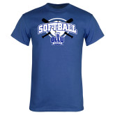Royal T Shirt-Softball Crossed Bats Design