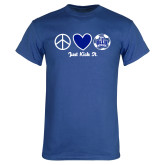 Royal T Shirt-Just Kick It Soccer Design