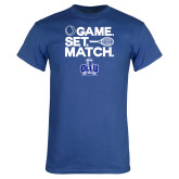 Royal T Shirt-Game. Set. Match. Tennis Design
