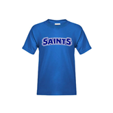 Youth Royal T Shirt-Saints