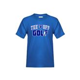Youth Royal T Shirt-Tee Off Golf Design