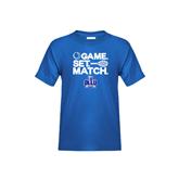 Youth Royal T Shirt-Game. Set. Match. Tennis Design