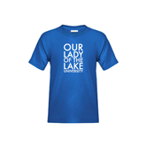 Youth Royal T Shirt-Our Lady of the Lake Stacked